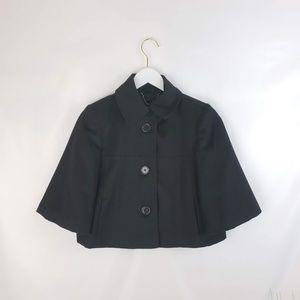 Gap Black Wool-blend Cropped Blazer Small